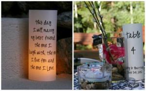 Wedding Signs - Quotes Luminaries - Beautiful Reception Decor - Table ...