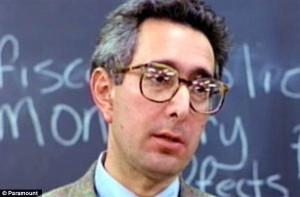 Ben Stein pictured in the 1986 movie Ferris Bueller's Day Off, in ...