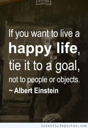 albert einstein quote on living a happy life albert einstein quote ...