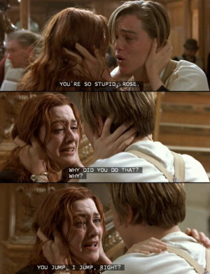 jack, movie quotes, rose, rose&jack, titanic