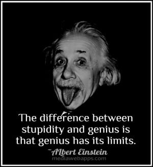 Albert Einstein Quotes Stupidity