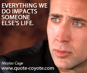 Nicolas Cage Funny Quotes