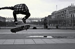 guy, jump, skate, skating, street