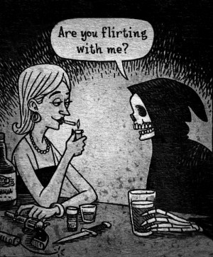 pretty death art funny couple girl cute quote Black and White text ...