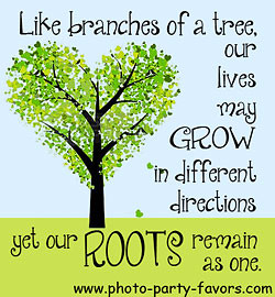 family reunion quote - like branches of a tree our lives may grow in ...