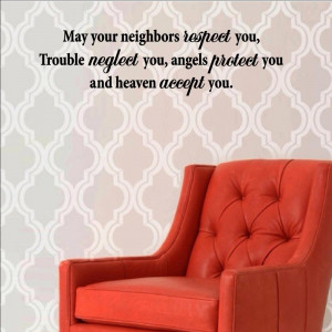 your neighbors respect you, trouble Vinyl wall decals quotes sayings ...