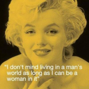 Cute girly quote by Marilyn Monroe.