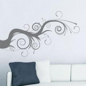 Amazon.com: Whimsical Tree Branch Wall Decal Black 36x21: Home ...