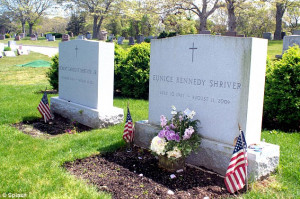 ... Shriver and Sargent Shriver at the St Francis Xavier Cemetery in