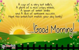 Funny Good Morning Quote & This Funny Morning Make Smile To Say A cup ...