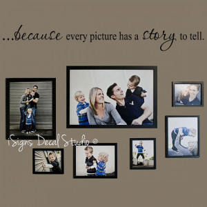 Every Picture Has a Story to Tell – Wall Quote – Family Wall Quote ...