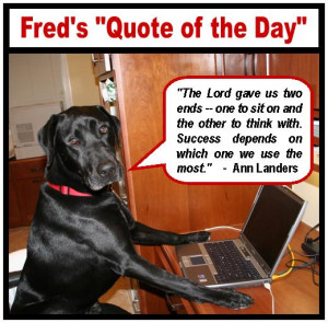"""Lake Forest Fred's """"Quote of the Day"""""""