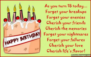 18th birthday wishes for son or daughter eighteenth birthday ...