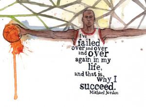 Failure Leads to Success Michael Jordan Quote Portrait 8x10 Print