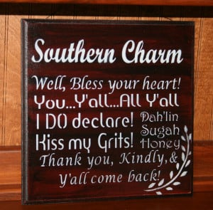 Southern Sayings - Southern Charm - Southern Phrases Wooden Sign ...
