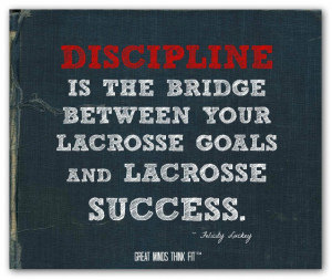 ... between your lacrosse goals and lacrosse success.