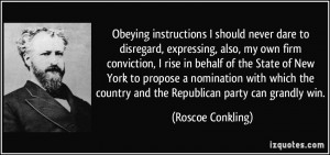 Obeying instructions I should never dare to disregard, expressing ...