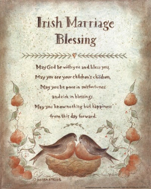 Irish Wedding Toasts Blessings Proverbs Poems Songs And