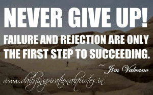 ... only the first step to succeeding. ~ Jim Valvano ( Inspiring Quotes
