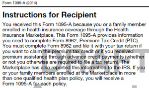 1095 B Instructions Confirmation of Minimum Essential Coverage