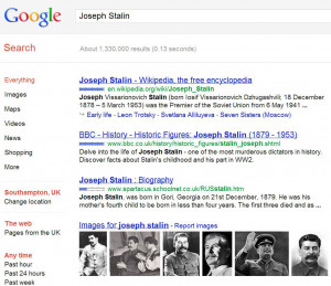 ... seem, Stalin lied about his age, and Stalin was not his real name