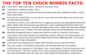 THE CHUCK NORRIS FACTS TOP 100 CHUCK NORRIS JOKES