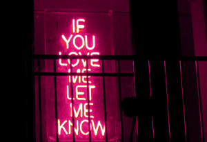 if you love, lights, love, neon, pink, quote
