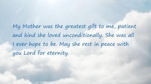 Mother Memorial Quote