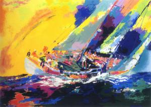 leroy neiman nieman hawaiian sailing