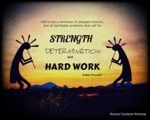Strength, Determination and Hard Work