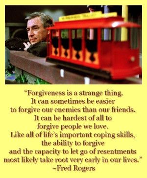 . It can sometimes be easier to forgive our enemies than our friends ...