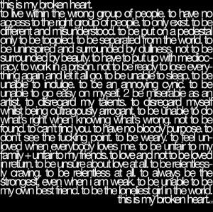 broken heart, brokenheart, hurt, life, love, quote, text, thought