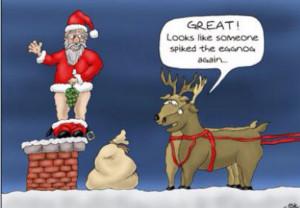 Funny adult christmas cartoon