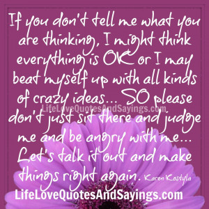 If You Don't Tell Me…