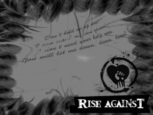 Rise Against + Quote-4 by DemonicSX