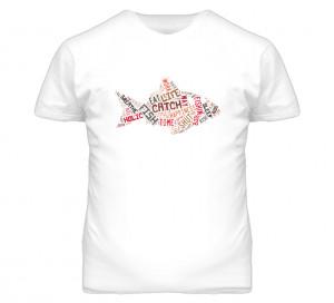 Fishing Sayings Word Jumble White T Shirt