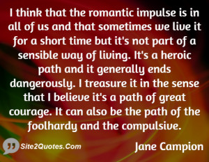 Romantic Quotes - Elizabeth Jane Campion