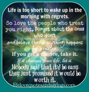 Life is too short to wake up..