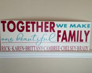 Blended Family Wood Sign