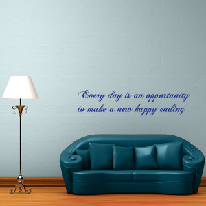 Happy Endings Quote Wall Decal