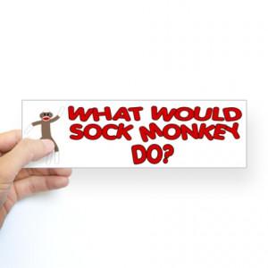 funny sock monkey