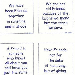 Talking Quilts Mini Friendship quotes, 3 1/2