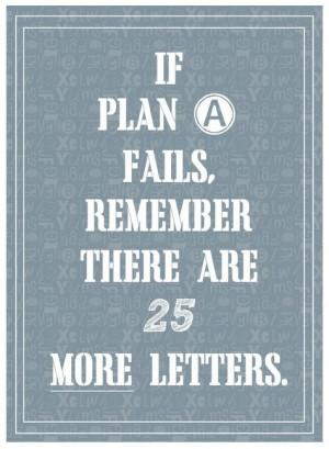 If plan a fails...