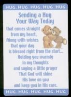 Name: Sending A Hug Your Way Today Poem Card