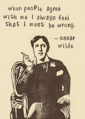 ... 30 November 1900 - five classic Oscar Wilde QuotesOscar Wilde Print