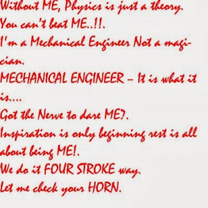 Mechanical Engineer T Shirt Quotes