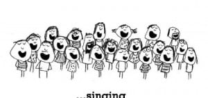 Happiness is, singing in a choir.