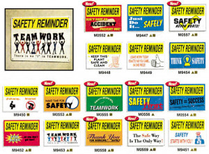WORKPLACE SAFETY REMINDER SIGNS