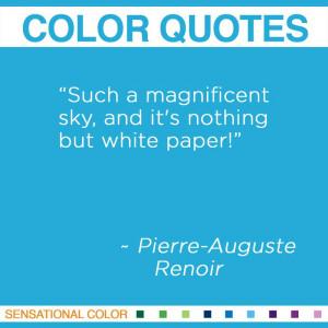 Color Quotes By Pierre-Auguste Renoir