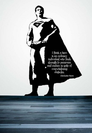 Superman, Superhero, Super, Man, Hero, Justice League, Quote, Decal ...